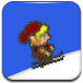 小男孩滑雪