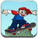 卡通滑板少年