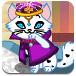 公主和宠物猫