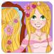 长发公主婚礼发型